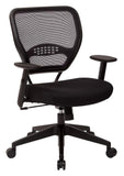 Office Star Space Seating 5500 Professional Black AirGrid® Back Managers Chair with Black Mesh Fabric Seat - Peazz Furniture - 4