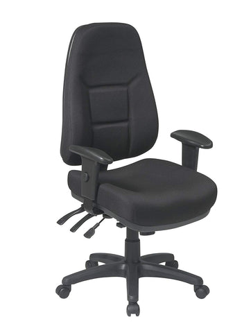Work Smart 2907-231 High Back Multi Function Ergonomic Chair with Ratchet Back Height and 2-way Adjustable Arms.