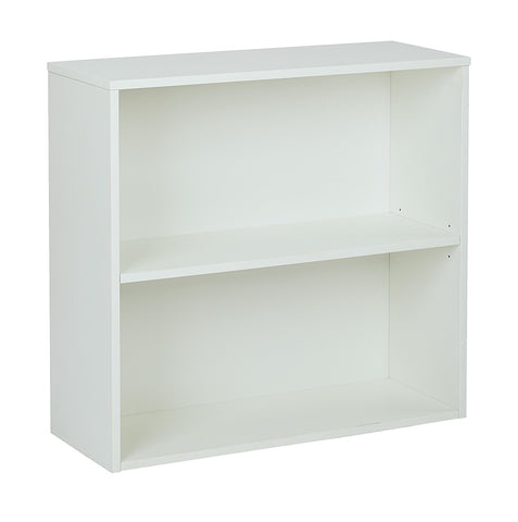 "Pro-Line II PRD3230-WH Prado 30"" 2 Shelf Bookcase, 3/4"" Shelf White"