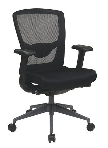 Office Star Pro-Line II 511343AT Executive Black ProGrid® Back Chair