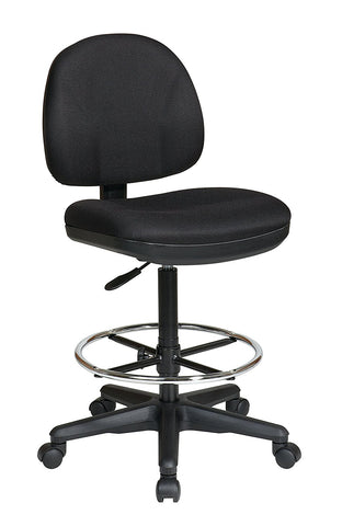 Work Smart DC630/SK1-231 Drafting Chair with Stool Kit