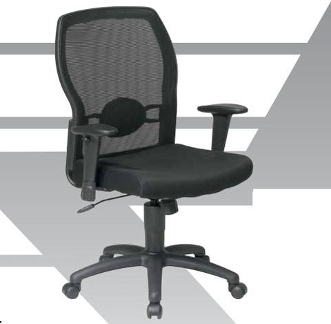 Office Star Products 599302-C Woven Mesh Back Chair