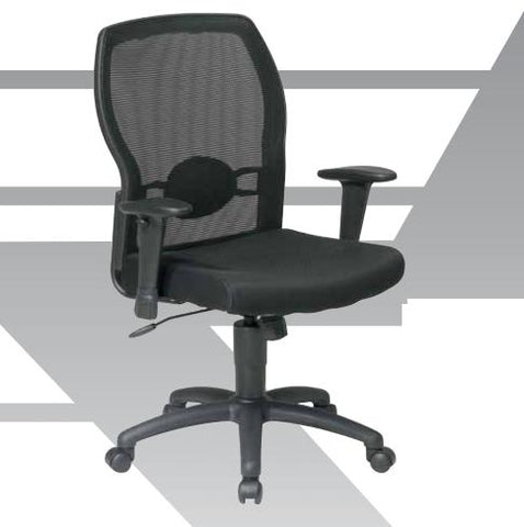 Office Star Products 599302-R Woven Mesh Back Chair