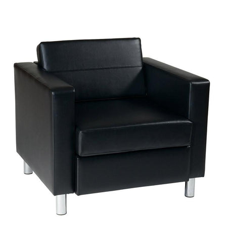 Office Star Ave Six PAC51-V18 Pacific Arm Chair in Black - Peazz Furniture