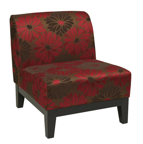 Office Star Ave Six GLN51-G14 Glen Chair in Groovy Red - Peazz Furniture