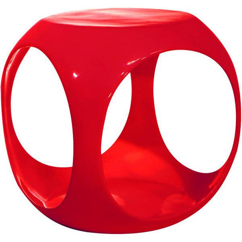 Office Star Ave Six SLK9 Slick Cube in Red - Peazz Furniture