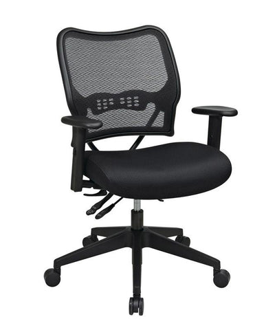 Office Star Space Seating 13-37N9WA Deluxe Chair with AirGrid® Back and Mesh Seat - Peazz Furniture