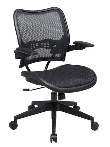 Office Star Space Seating 13-77N1P3 Deluxe AirGrid® Seat and Back Chair with Cantilever Arms - Peazz Furniture