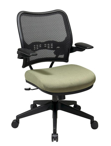 Office Star Space Seating 13-7N1P3 Deluxe AirGrid® Back Chair with Custom Fabric Seat and Cantilever Arms - Peazz Furniture