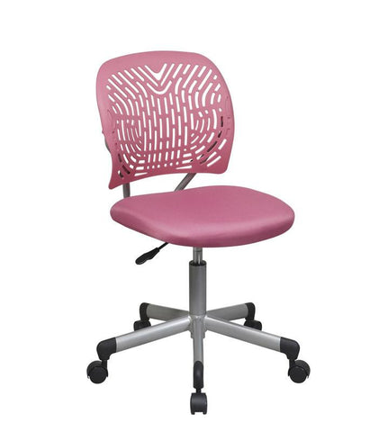 Office Star OSP Designs 166006-355 Designer Task Chair in Pink Fabric and Plastic Back - Peazz Furniture