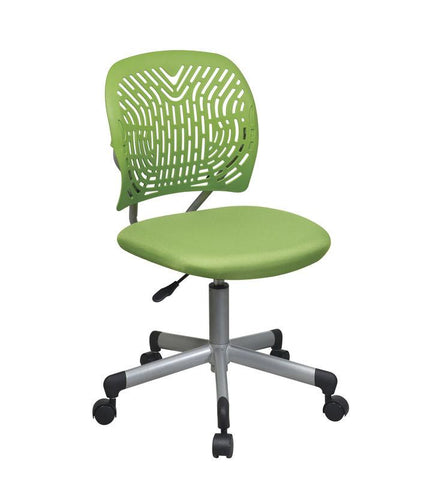 Office Star OSP Designs 166006-6 Designer Task Chair in Green Fabric and Plastic Back - Peazz Furniture