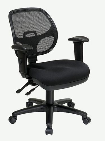 Office Star Pro-Line II 29024-30 Ergonomic Task Chair with ProGrid® Back and Adjustable Arms - Peazz Furniture