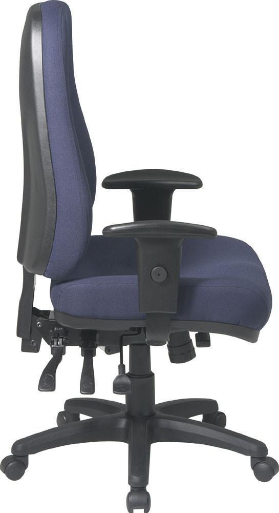 Office Star Products 2907 R High Back Multi Function Ergonomic Chair With  Ratchet Back Height