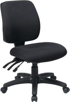 Office Star Work Smart 33320-30 Mid Back Dual Function Ergonomic Chair with Ratchet Back Height Adjustment without Arms - Peazz Furniture