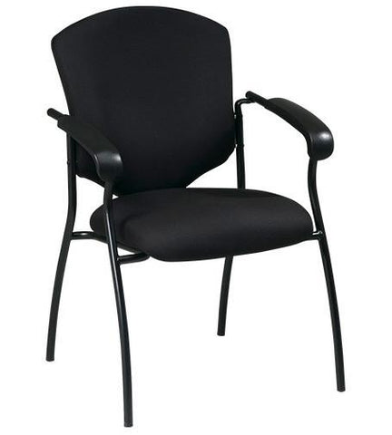 Office Star Products 41575-B Executive Guest Chair with Arms - Peazz Furniture
