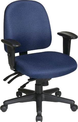 Office Star Products 43808-B Ergonomics Chair with Ratchet Back and Adjustable Soft Padded Arms - Peazz Furniture