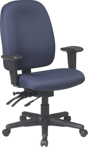 Office Star Products 43998-B Dual Function Ergonomic Chair with Seat Slider, Ratchet Back and Adjustable Soft PU Padded Arms - Peazz Furniture