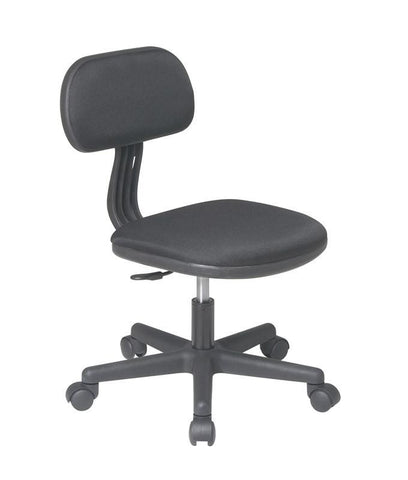 Office Star OSP Designs 499-3 Task Chair in Black Fabric - Peazz Furniture