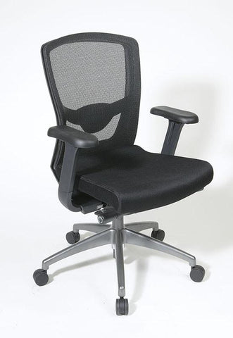 Office Star Pro-Line II 511343AT Executive Black ProGrid® Back Chair - Peazz Furniture