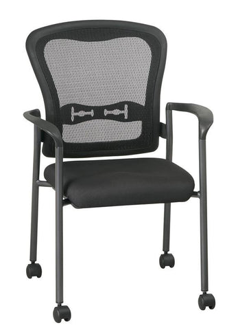 Office Star Pro Line II 84540 30 Titanium Finish Visitors Chair With Arms,