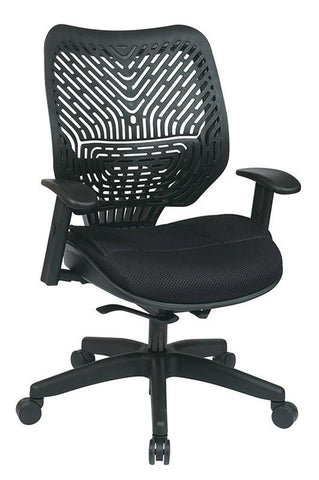 Office Star Space Seating 86-M33BN2W Unique Self Adjusting SpaceFlex® Back and Raven Mesh Seat Managers Chair - Peazz Furniture