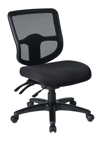 Office Star Pro-Line II 98341-30 Ergonomic Task Chair with ProGrid® Back and Ratchet Back Height Adjustment without Arms - Peazz Furniture