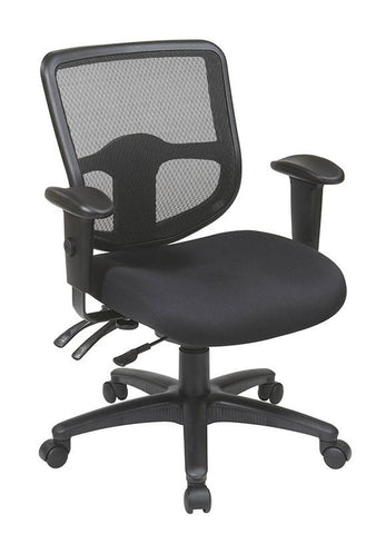 Office Star Pro-Line II 98344-30 Ergonomic Task Chair with ProGrid® Back and Ratchet Back Height Adjustment - Peazz Furniture