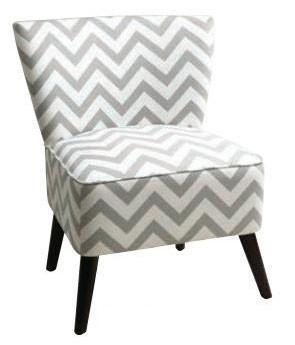 Office Star Ave Six APL-Z13 Apollo Chair in Zig Zag Grey - Peazz Furniture
