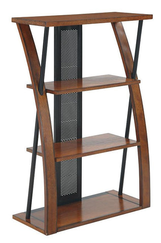 Office Star OSP Designs AR27 Aurora  Bookcase with Powder-Coated Black Accents - Peazz Furniture