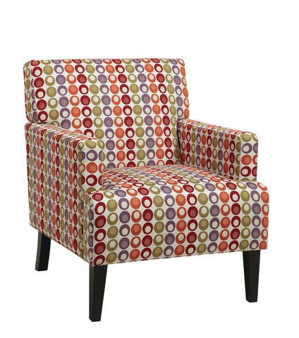 Office Star Ave Six CAR51A-F20 Carrington Arm Chair in Flair Confetti - Peazz Furniture