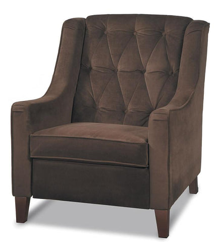 Office Star Ave Six CVS51-C12 Curves Tufted Accent Chair in Chocolate Velvet - Peazz Furniture