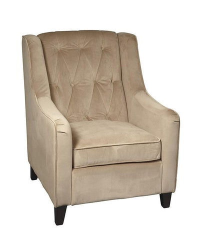 Office Star Ave Six CVS51-C27 Curves Tufted Accent Chair in Coffee Velvet - Peazz Furniture