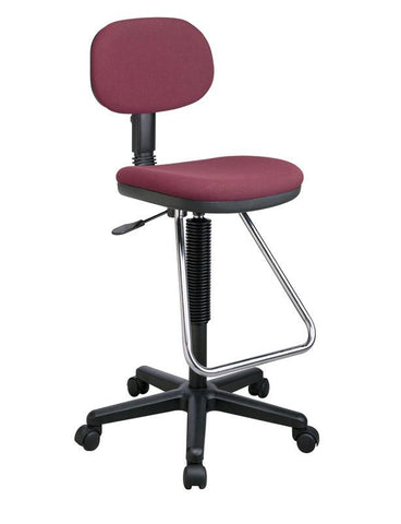Office Star Products DC430-B Economical Chair with Chrome Teardrop Footrest - Peazz Furniture
