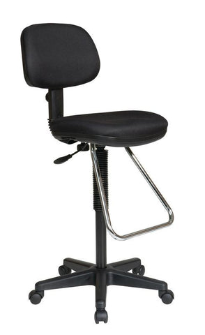 Office Star Products DC430-R Economical Chair with Chrome Teardrop Footrest - Peazz Furniture
