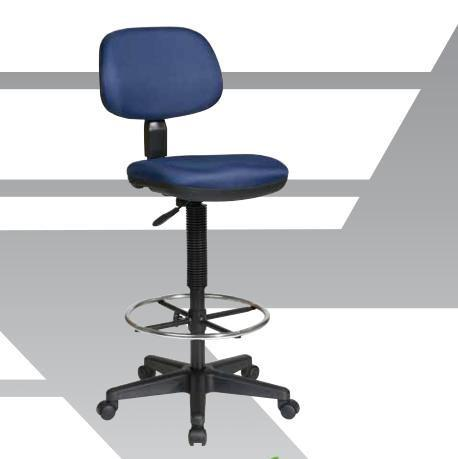 Office Star Work Smart DC517V Sculptured Seat and Back Vinyl Drafting Chair - Peazz Furniture