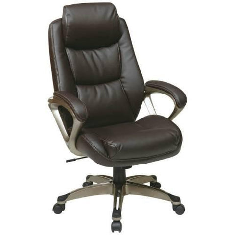 Office Star Work Smart ECH89181-EC1 Executive Eco Leather Chair - Peazz Furniture