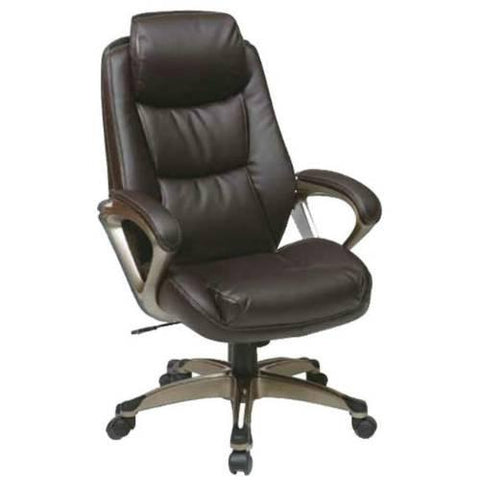 Office Star Work Smart ECH89181-EC6 Executive Eco Leather Chair - Peazz Furniture