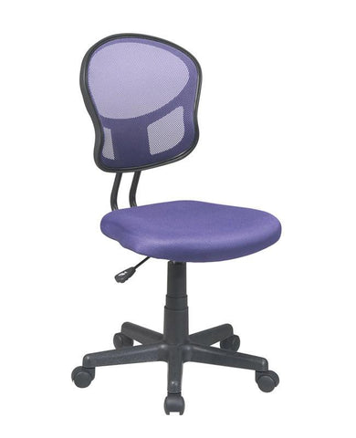 Office Star OSP Designs EM39800-512 Mesh Task chair in Purple Fabric - Peazz Furniture
