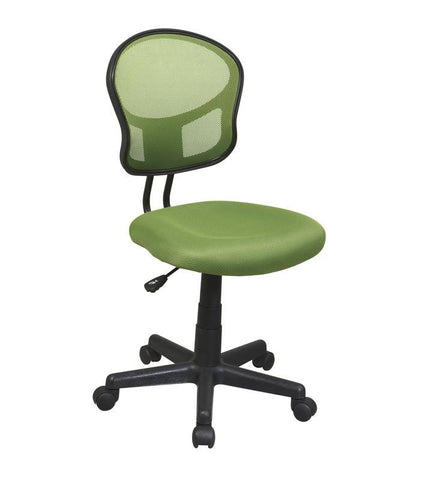 Office Star OSP Designs EM39800-6 Mesh Task chair in Green Fabric - Peazz Furniture