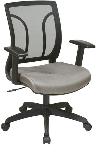 Office Star Work Smart EM50727-2 Screen Back Chair with Mesh Seat with Height Adjustable Arms - Peazz Furniture