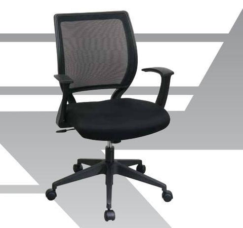"Office Star Work Smart EM51022N-2 Screen Back Task Chair with ""T"" Arms - Peazz Furniture"