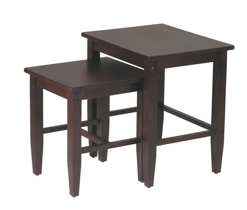 Office Star OSP Designs ES19 2pc Nesting Tables - Peazz Furniture