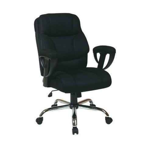 Office Star Work Smart EX1098-3M Executive Big Mans Chair with Mesh Seat and Back, Padded Height Adjustable Arms and Chrome Base - Peazz Furniture