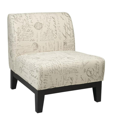 Office Star Ave Six GLN51-S13 Glen Accent Chair in Script - Peazz Furniture