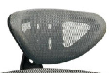 Office Star Pro-Line II HRX52 Grey ProGrid® Headrest (Headrest Fit 511342) - Peazz Furniture