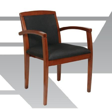 Office Star OSP Furniture KEN-129-LCH Leg Chair With Upholstered Back & Light Cherry Finish - Peazz Furniture