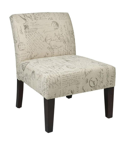 Office Star Ave Six LAG51-S13 Laguna Accent Chair in Script - Peazz Furniture