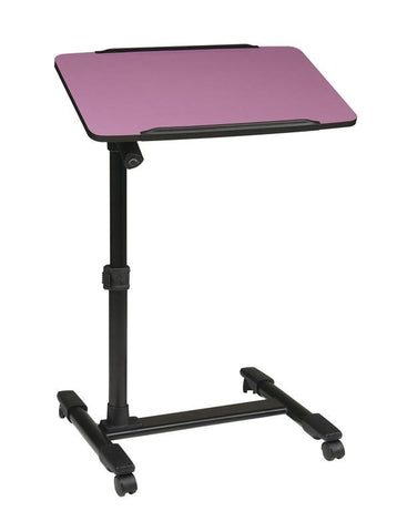 Office Star OSP Designs LT733-512 Mobile Laptop Cart with Adjustable Purple Top - Peazz Furniture