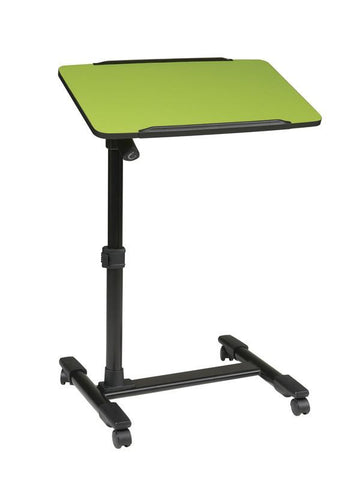 Office Star OSP Designs LT733-6 Mobile Laptop Cart with Adjustable Green Top - Peazz Furniture