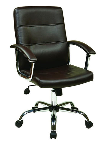 Office Star Ave Six MAL26-BK Malta Office Chair in Black - Peazz Furniture